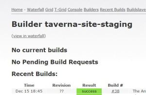 Check to see if the build process is complete.